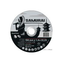 """Диск отрезной по металлу и нержавеющей стали SAMURAY ТМ """"VIROK"""" Ø=150х22.23 мм t=1.6 мм"""