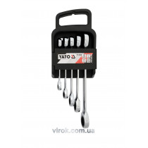 Набор ключей накидных с трещоткой YATO М8-19 мм 5 шт