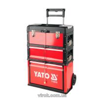 Валіза-візок для інструментів YATO 3-секції. на 2-х колесах з висувною ручкою
