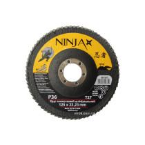 Круг лепестковый шлифовальный NINJA TM VIROK Т27 125х22 мм Р36