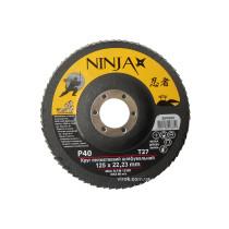 Круг лепестковый шлифовальный NINJA TM VIROK Т27 125х22 мм Р40