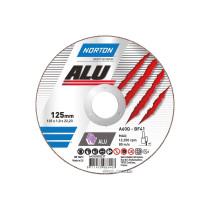 """Диск відрізний по алюмінію  """"NORTON-Alu"""" A60Q; Ø= 125/22,2 мм, t= 1,0 мм"""