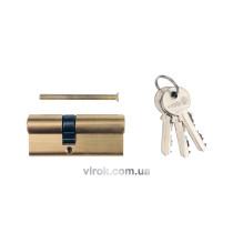 Серцевина замка VOREL 62мм 31/31мм 3 ключі [12/72]