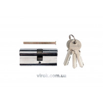 Серцевина замка VOREL асиметрична l=62мм 31/31мм 3 ключі [12/72]