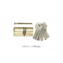 Сердцевина замка асимметричная латунная VOREL 62 мм 31/31 мм 6 ключей