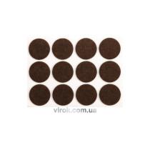 Протектор самоклеючий повстяний VOREL, Ø=28мм/12шт. (коричневі) [60/720]