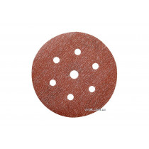 Круг шлифовальный наждачный на липучке с 7 отверстиями (6Н+1) NORTON Pro-A275 Ø=150 мм Р220
