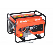 Генератор бензиновий YATO, 2,5 кВт, бак 15л.