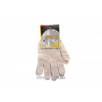 Перчатки трикотажные белые (70% - хлопок, 30% - полиэстер) размер 10