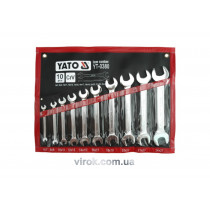 Набор ключей рожковых YATO М6-27 мм 10 шт