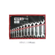 Набор ключей рожковых YATO М6-32 мм 12 шт
