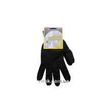 Перчатки трикотажные двойные черные (7/10 класс, 70% - хлопок, 30% - полиэстер), размер 10