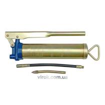 Шприц мастильний VOREL з жорсткою і гнучкою трубками V=400 мл