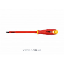 Отвертка диэлектрическая плоская YATO SL6.5 х 150 мм VDE до 1000 В