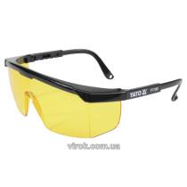 Очки защитные YATO открытые желтые