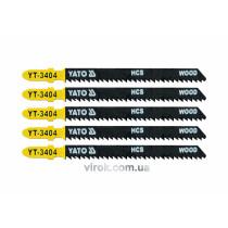 Пильное полотно для электролобзика (дерево) YATO HCS 10 TPI 100 мм 5 шт
