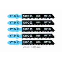 Полотно для електролобзика(метал), YATO, l=75мм,  12TPI, набір 5пр. [25/250]