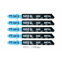 Пильное полотно для электролобзика (металл) YATO HSS 21TPI 75 мм 5 шт