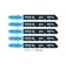 Полотно для електролобзика(метал) YATO, 32TPI, l=75мм, набір 5пр. [25/250]