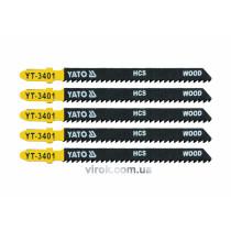 Пильное полотно для электролобзика (дерево, пластик) YATO HCS 10TPI 100 мм 5 шт