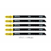 Пильное полотно для электролобзика (дерево) YATO HCS 8TPI 115 мм 5 шт