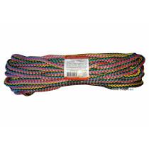 """Мотузка господарська """"Веселка"""" TM VIROK, 8мм Х 20 м, р/н=160кгс, поліпропіленова, з серцевиною"""