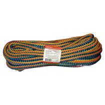 """Мотузка господарська """"Веселка"""" TM VIROK, 9мм Х 20 м, р/н=200кгс, поліпропіленова, з серцевиною"""