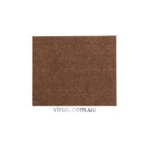 Протектор самоклеючий войлоий VOREL 100х120мм (коричневий) [60/720]