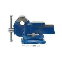 Тиски слесарные VOREL поворотные с наковальней 125 мм
