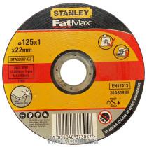 Диск отрезной по металлу и нержавеющей стали STANLEY Ø=125х22 мм h=1 мм
