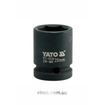 """Головка торцевая ударная шестигранная YATO 1/2"""" М20 х 39 мм"""