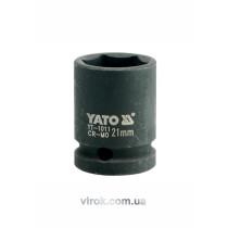 """Головка торцевая ударная шестигранная YATO 1/2"""" М21 х 39 мм"""