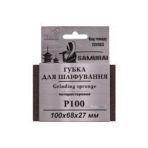 Губка шлифовальная четырехсторонняя SAMURAY ТМ VIROK Р100 100 х 68 х 27 мм