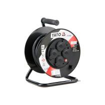 Удлинитель электрический на катушке YATO 20 м 1.5 мм² 4 гнезда 3-жильный