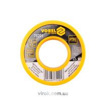 Фум-лента тефлоновая VOREL 12 x 0.1 x 12 м
