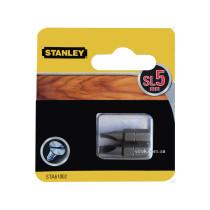 Насадка отверточная STANLEY плоская SL5 х 25 мм 2 шт