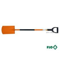 Лопата штыковая прямая FLO металлическая основа HRC 45 пластиковая ручка