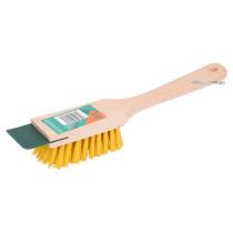 Щітка очисна до газонокосарки FLO з деревяним корпусом і пластик. щетиною