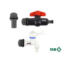 """Вентили для сборного бака дождевой воды из ПВХ FLO Ø3/4"""" 3 шт"""