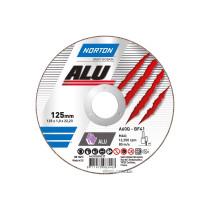 """Диск відрізний по алюмінію  """"NORTON-Alu"""" A60Q; Ø= 125/22,2 мм, t= 1,6 мм"""