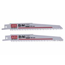 Полотно по дереву и пластику для сабельной пилы AEG 6-100 мм 150 мм крок зубов 4 мм 2 шт