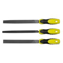 Набір напильників STANLEY : плоский, півкруглий, трикутний, L= 200 мм, 3 шт