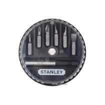 """Набор отверточных насадок STANLEY 1/4"""" SL PZ магнитный держатель 7 шт"""