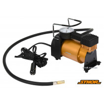 Компрессор автомобильный STHOR 12 В 120 Вт 35 л/мин 1 МПа + шланг 1 м + насадки + мешок