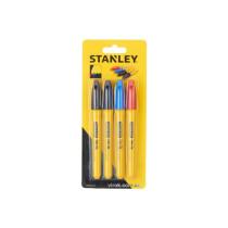"Маркери STANLEY ""Fine Tip"" : різнобарвні, 4 шт."