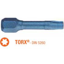 Насадка викруткова ударна BLUE SHOCK USH : Torx T30 x TORSION 30 мм, Уп. 25 шт.