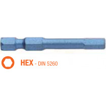 Насадка отверточная ударная BLUE SHOCK USH HEX 6 x TORSION 50 мм 5 шт