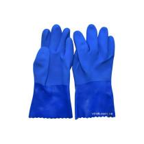 Перчатки резиновые масло-бензостойкие синие размер 10