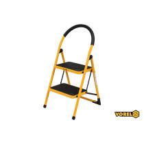 Лестница складная металлическая VOREL 2 ступени 36 х 26 см с противоскользящей прокладкой 90 х 47 х 49 см