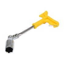 Ключ для свечей шарнирный VOREL М21 x 260 мм с пластиковой ручкой